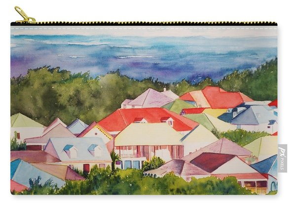 St. Martin Rooftops Carry-all Pouch