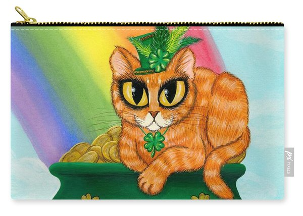 St. Paddy's Day Cat - Orange Tabby Carry-all Pouch