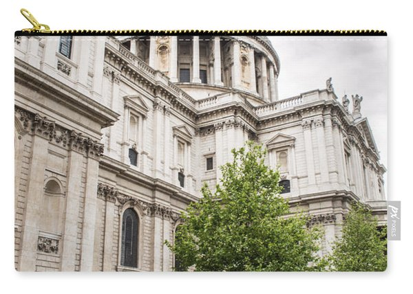 St Pauls Cathedral With Black Taxi Carry-all Pouch