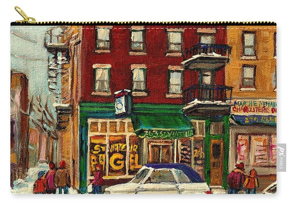 St Viateur Bagel And Mehadrins Deli Carry-all Pouch