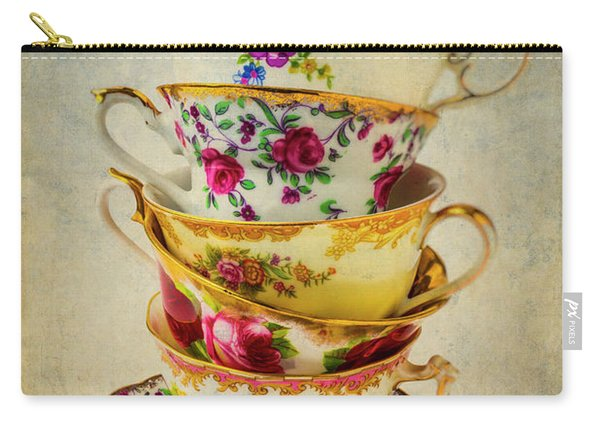 Stack Of Pretty Tea Cups Carry-all Pouch