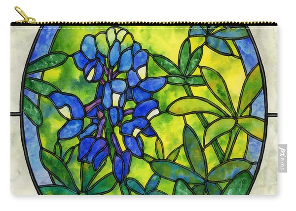 Stained Glass Bluebonnet Carry-all Pouch