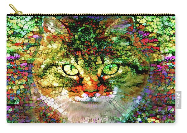 Stained Glass Cat Carry-all Pouch