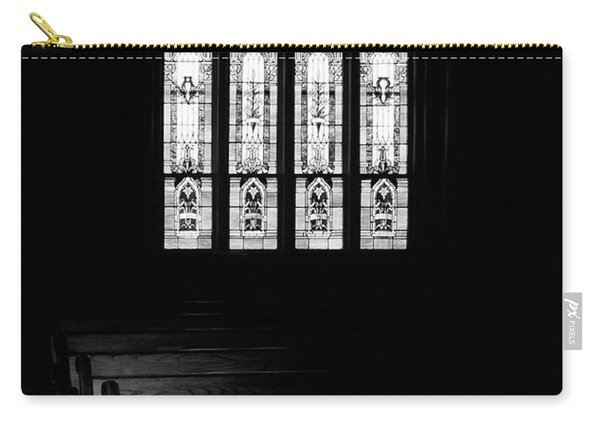Stained Glass In Black And White Carry-all Pouch