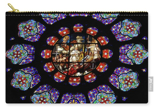 Stained Glass Rose Window Of Joinville Carry-all Pouch