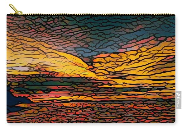 Stained Glass Sunset Carry-all Pouch