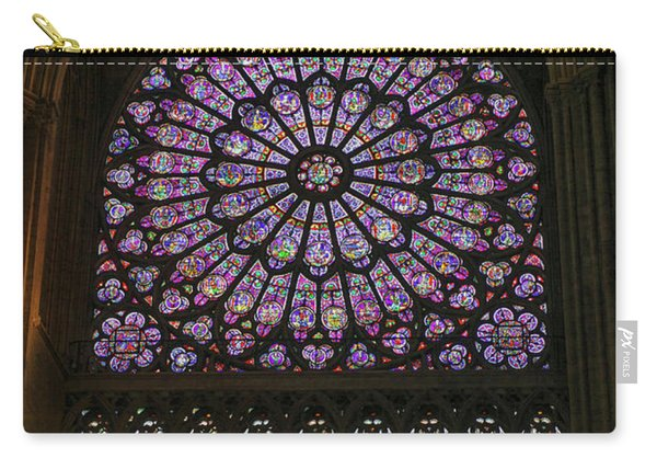Stained Glass Window Of The Notre Dame Carry-all Pouch