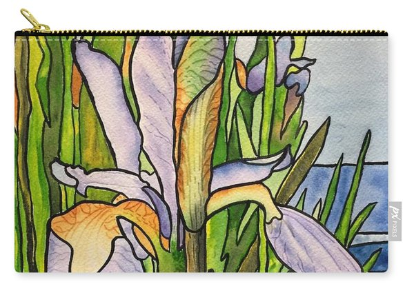 Stained Iris Carry-all Pouch