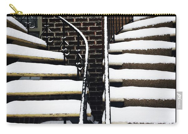 Staircases Covered By Snow Carry-all Pouch