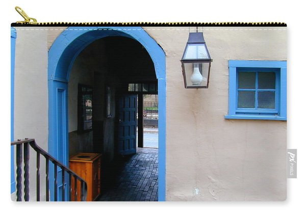 Carry-all Pouch featuring the photograph Stairs To The Tunnel To The Door by Joseph R Luciano