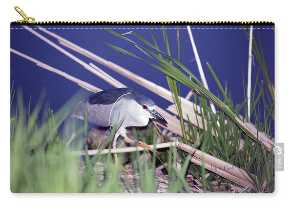 Stalking Black Crowned Night Heron Carry-all Pouch