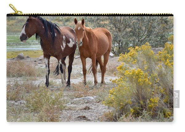 Stallion And Mare Carry-all Pouch