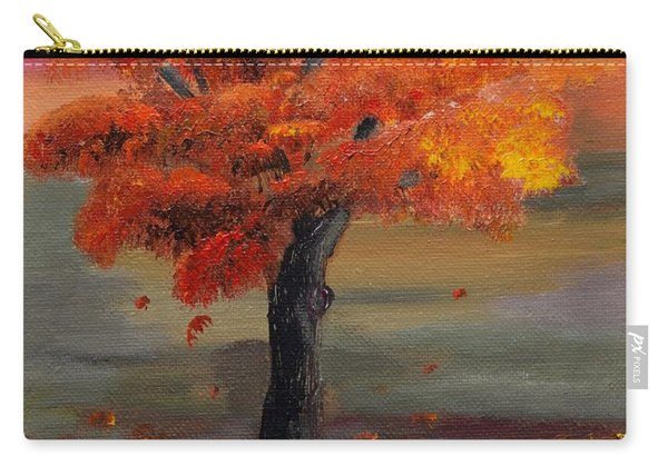 Stand Alone In Color - Autumn - Tree Carry-all Pouch