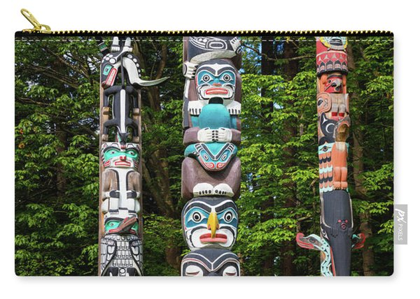 Stanley Park Totems Carry-all Pouch