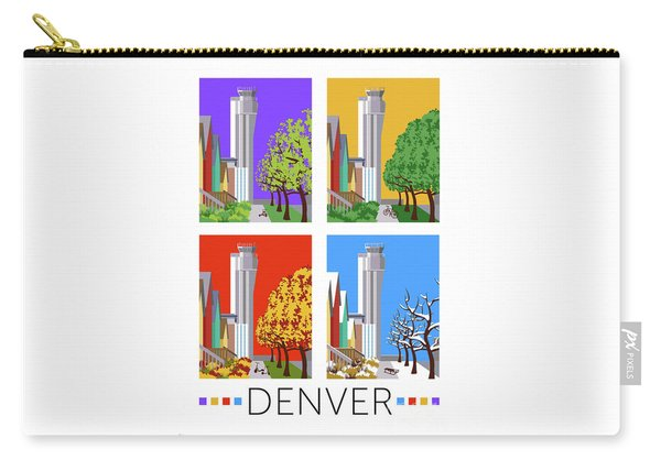 Carry-all Pouch featuring the digital art Stapleton Four Seasons by Sam Brennan