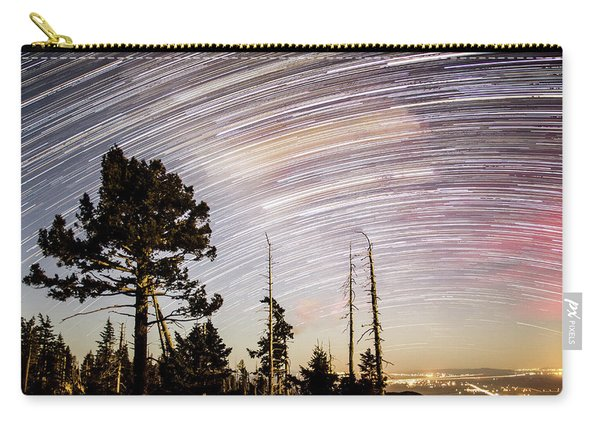 Star Trails At Fort Grant Carry-all Pouch
