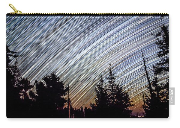 Star Trails From Mt. Graham Carry-all Pouch