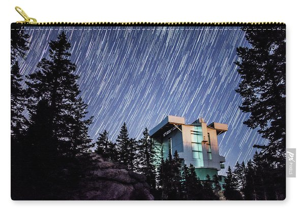 Star Trails Over The Large Binocular Telescope Carry-all Pouch