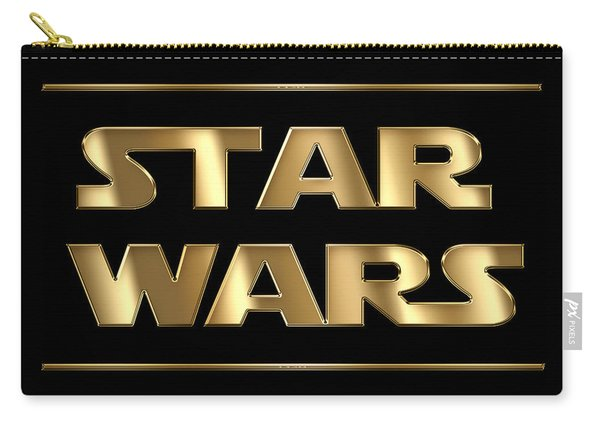 Star Wars Golden Typography On Black Carry-all Pouch