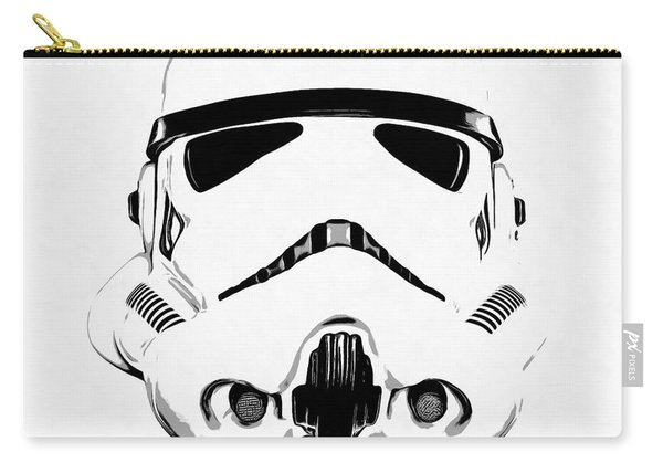 Star Wars Stormtrooper Helmet Graphic Drawing Carry-all Pouch