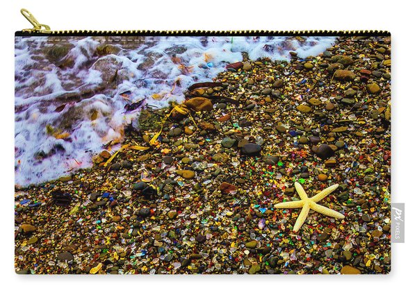 Starfish Among Stones And Sea Glass Carry-all Pouch