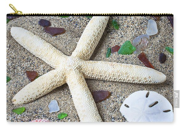Starfish Beach Still Life Carry-all Pouch