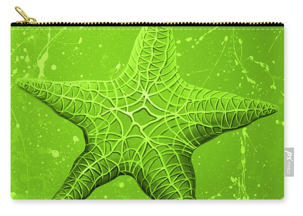 Starfish In Green Carry-all Pouch
