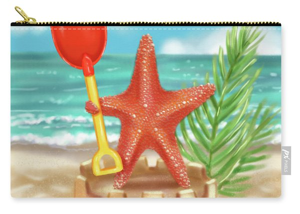 Starfish Makes A Sandcastle Carry-all Pouch