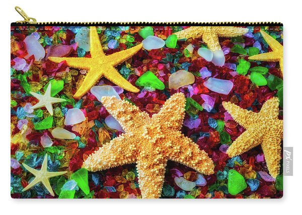 Starfish On Sea Glass Carry-all Pouch