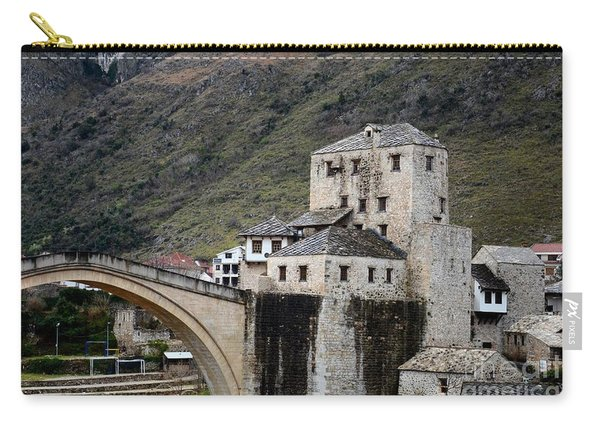 Stari Most Ottoman Bridge And Embankment Fortification Mostar Bosnia Herzegovina Carry-all Pouch