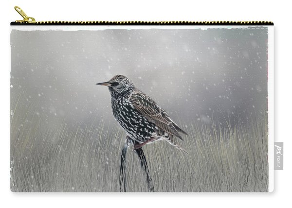 Starling In Winter Carry-all Pouch
