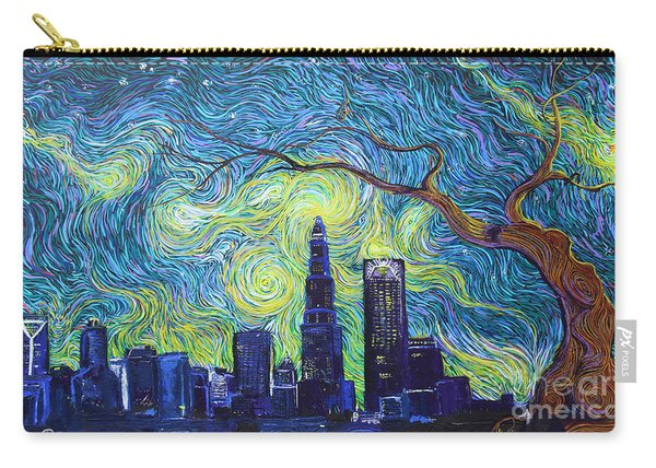 Starry Night Over The Queen City Carry-all Pouch