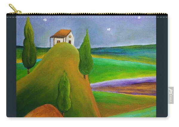 Carry-all Pouch featuring the painting Starry Summer Night by Angeles M Pomata