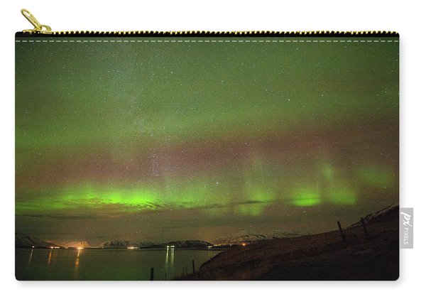 Stars And Northern Lights Carry-all Pouch