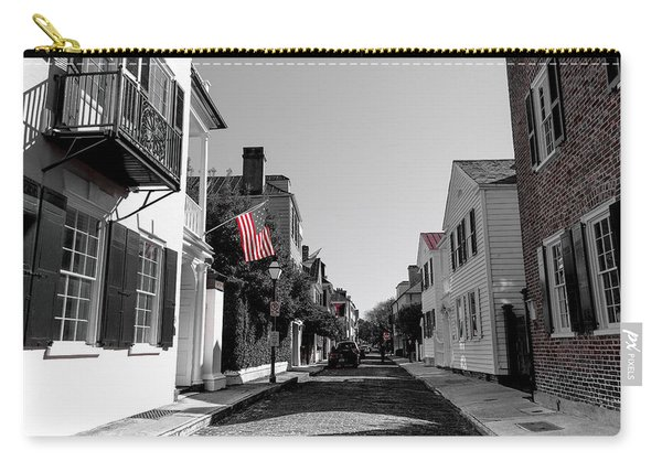 Stars And Stripes- Church St Charleston Sc Carry-all Pouch