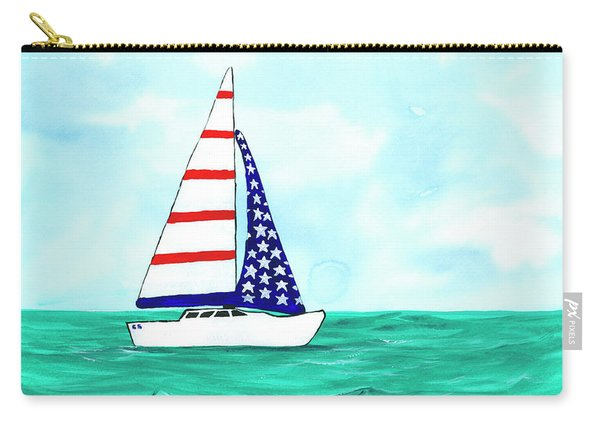 Stars And Strips Sailboat Carry-all Pouch