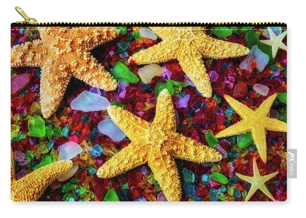 Stars On Sea Glass Carry-all Pouch