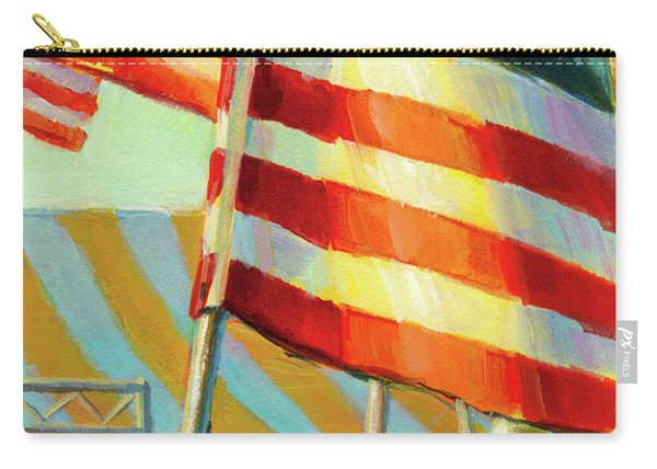 Stars, Stripes, And Cowboys Forever Carry-all Pouch