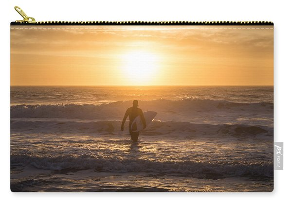 Start The Day Surfing Carry-all Pouch