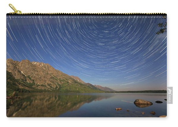 Startrails Over Jenny Lake Carry-all Pouch