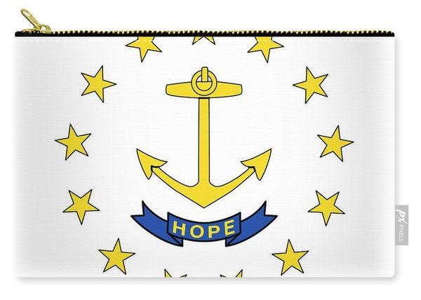 State Flag Of Rhode Island Carry-all Pouch