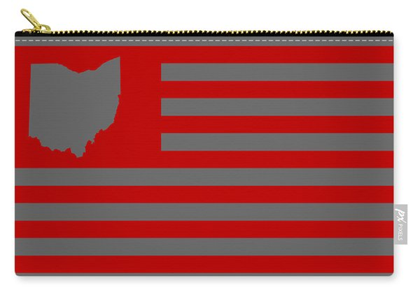 State Of Ohio - American Flag Carry-all Pouch