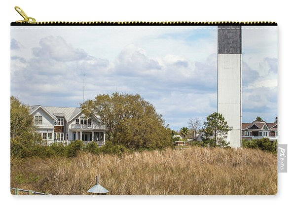 Carry-all Pouch featuring the photograph Station 18 On Sullivan's Island, Sc by Donnie Whitaker