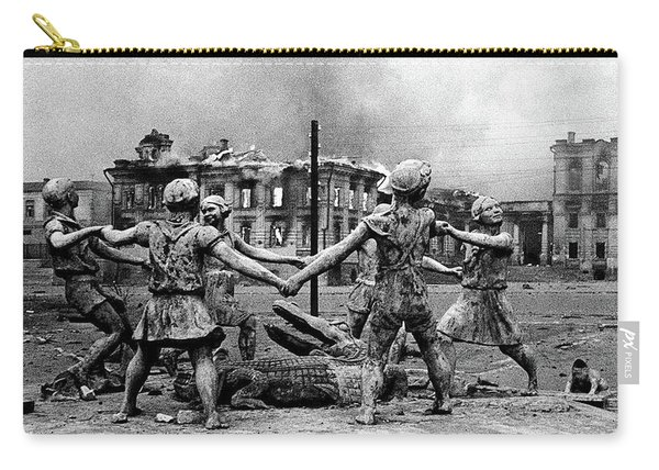 Statue Of Children After Nazi Airstrikes Center Of Stalingrad 1942 Carry-all Pouch