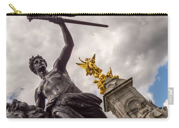 Statues In Front Of Buckingham Palace Carry-all Pouch