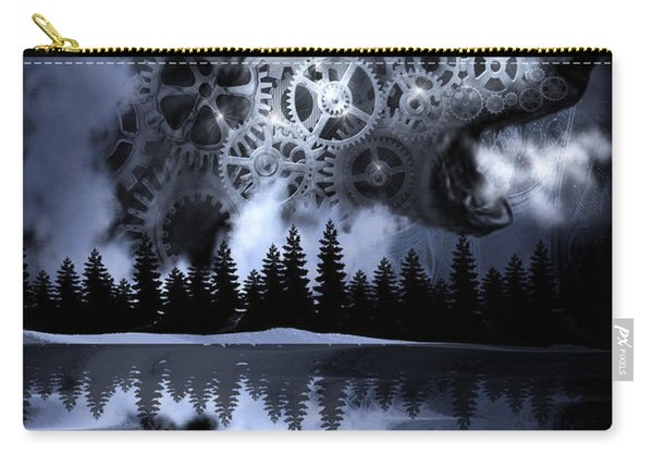 Steampunk Polar Bear Landscape Carry-all Pouch