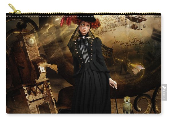 Steampunk Time Traveler Carry-all Pouch