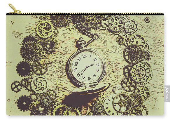 Steampunk Travel Map Carry-all Pouch