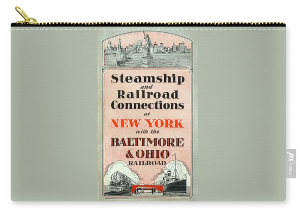 Steamship And Railroad Connections At New York Carry-all Pouch