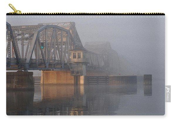 Steel Bridge In Fog Carry-all Pouch